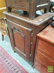 Sale 8428 - Lot 1067 - French Small Oak Cabinet, with shaped panel door