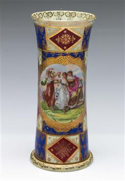 Sale 9164 - Lot 2 - A Vienna style vase decorated with characters (H:25cm)