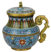 Sale 7974 - Lot 16 - Chinese Cloisonne Lidded Container
