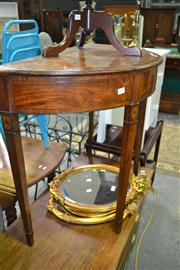 Sale 8093 - Lot 1717 - Early Victorian Mahogany Demi Lune Table with Cross Banding & String Inlay