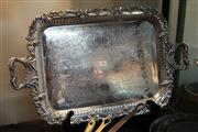 Sale 8276 - Lot 98 - Silver Plated Butlers Tray