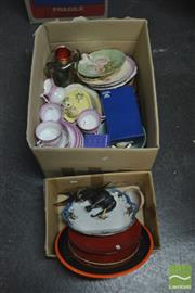 Sale 8407T - Lot 2453 - Boxes of Sundries (2) incl Villeroy & Boch Plate & Wedgwood Pin Dish