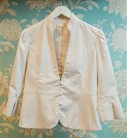 Sale 8448A - Lot 49 - Designer Alannah Hill fitted Jacket featuring satin covered buttons & pleated bell cuff sleeves Condition: very good pre-loved S...