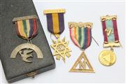 Sale 8670 - Lot 172 - Collection Of Masonic Medals Incl Cased Vintage Examples