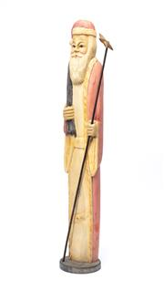 Sale 8890T - Lot 19 - A carved timber figure of Saint Nicholas, height 60cm