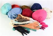 Sale 8873 - Lot 91 - Vintage And Other Hats Incl Feather Examples, Together With Gloves