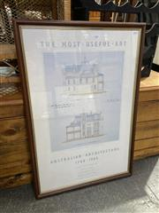 Sale 8990 - Lot 2080 - Mitchell Gallery Exhibition Poster Australian Architecture 1788 - 1985 82 x 56cm -