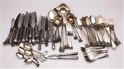 Sale 9064 - Lot 75 - Rostfrei HR90 R Marked Silver Plated Cutlery Service