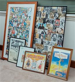 Sale 9103H - Lot 91 - Two large framed works depicting Australian film and sound archive moments, the other Australian food items and four advertising fra...