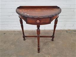 Sale 9157 - Lot 1063 - Timber hall table with single drawer (h:80 x w:76 xd:38cm)