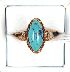 Sale 3682 - Lot 605 - AN 18CT GOLD RING SET WITH TURQUOISE.