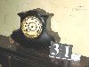 Sale 7504A - Lot 31 - BLACK MANTEL CLOCK (no key)