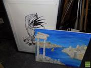 Sale 8495 - Lot 2052 - Unknown Artists (2 works) - Drummer Caricature; Venice Canal Scene, various sizes