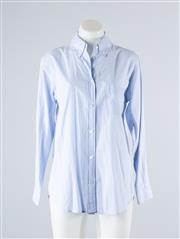 Sale 8760F - Lot 116 - A sky blue (presumed cotton) button down shirt by Equipment Femme, size XS