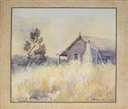 Sale 8789 - Lot 2028 - Winifred Caddy (1884 - ?) - Rural Country Cottage 24.5 x 26.5cm