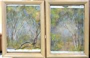 Sale 8945 - Lot 2098 - Pair Of Framed Paintings of Forrest Scenes Signed Lower Right ( 24.5 x 26cm)