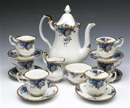 Sale 9093 - Lot 37 - Royal Albert Moonlight Rose Coffee Service For Six