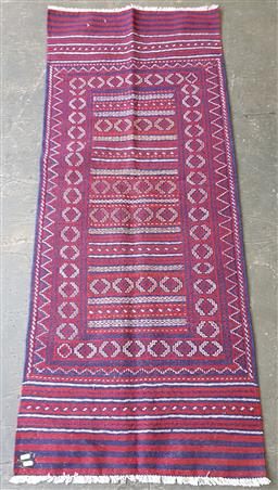 Sale 9215 - Lot 1494 - Hand knotted pure wool Persian Sumak runner (185 x 76cm)