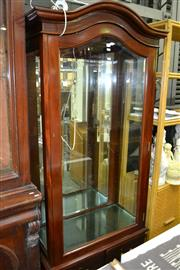 Sale 8093 - Lot 1542 - Mirrored Back Display Cabinet Raised on Ball & Claw Feet w Drawers Below