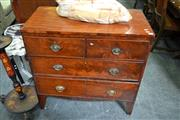 Sale 8115 - Lot 1487 - Mahogany 4 Drawer Chest