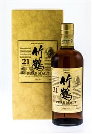 Sale 8261A - Lot 58 - Nikka 21yo Taketsuru Pure Malt, Nikka Taketsuru 21 was crowned World's Best Blended Malt Whisky at the 2010 World Whiskies Awards. T..