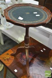 Sale 8326 - Lot 1310 - Wine Table With Tooled Leather Top