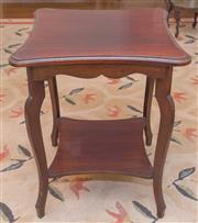 Sale 8368A - Lot 72 - An Edwardian maple square occasional table with lower shelf, W 58cm