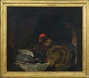 Sale 8415 - Lot 571 - Attributed George Lance (1802 - 1864) - Red Cap 41 x 47cm