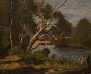 Sale 8606 - Lot 592 - Albert Rydge (1903 - 1971) - Mitta Mitta River, 1939 37 x 44cm