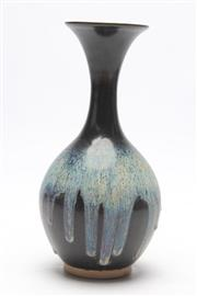Sale 8677 - Lot 53 - Black and Blue Drip Glaze Vase (H 28cm)