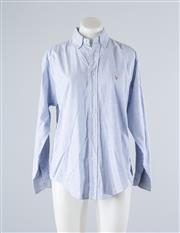 Sale 8760F - Lot 49 - A Ralph Lauren striped cotton button down shirt, size 4