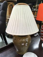 Sale 8859 - Lot 1065 - Ceramic Lampre Imports Table Lamp in Brown Green and Beige