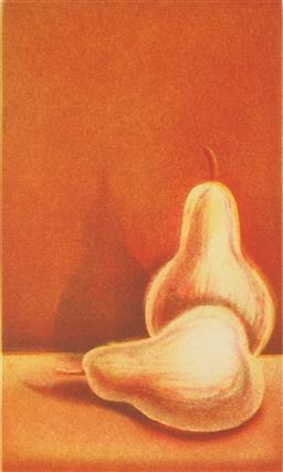 Sale 9118 - Lot 2093 - Peter Hickey (1943 - ) - Pears, 1991 16.5 x 9.5 cm, 37.5 x 20.5 cm (sheet size)