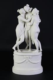 Sale 8923B - Lot 11 - A Parian model of the Three Graces after Antonio Canova, Height 40cm
