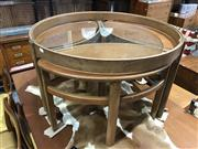 Sale 9039 - Lot 1064 - Nathan Circular Teak Coffee Table with 3 Concealed Side Tables (H52 x D81cm) - missing glass top