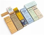 Sale 9054E - Lot 91 - A group of chemist packaging to include Parkers and Sanders tonics and ointments.