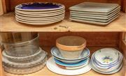 Sale 9071H - Lot 66 - A cupboard full of useful ceramics and glass including plates and bakeware