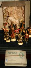 Sale 7670A - Lot 115 - Collection of chess pieces plus a collection of cigarette cards