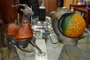 Sale 8156 - Lot 1088 - 2 Animal Table Lamps