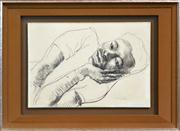 Sale 8286 - Lot 554 - Donald Friend (1915 - 1989) - Youth Resting 29 x 43cm