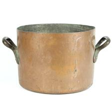 Sale 8351A - Lot 22 - Large French Copper Pot diameter 30cm depth 23cm(approx weight 9.5kg)