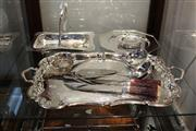 Sale 8327 - Lot 78 - Silver Plated Serving With Other Plated Wares incl Carving Set