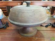 Sale 8469 - Lot 1030 - Turned Timber Lidded Cake Stand