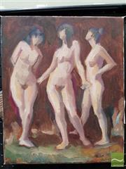 Sale 8491 - Lot 2018 - Richard Parker - To Jim (Three Graces, 2007, acrylic on canvas, 30 x 25cm, signed, dated and inscribed lower right