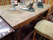 Sale 8697 - Lot 1036 - French Draw Leaf Dining Table