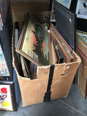 Sale 8720 - Lot 2084 - Box of Pictures & Paintings