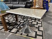 Sale 8876 - Lot 1018 - Granite Top Coffee/Side Table Swivel and Height Adjustable Top