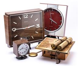 Sale 9185 - Lot 84 - Collection of clocks incl. two Seiko and a Japanese example