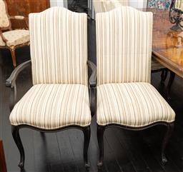 Sale 9248H - Lot 71 - A Set of 10 upholstered French dining chairs including two carvers.,