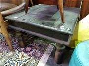 Sale 8462 - Lot 1044 - Hardwood Coffee Table With a Small Side Table